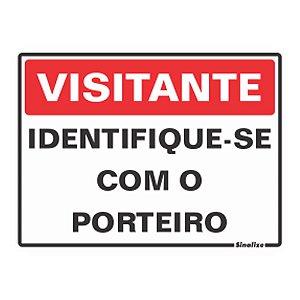 Placa 15 X 20 Poliestireno Visitante Identifique-se