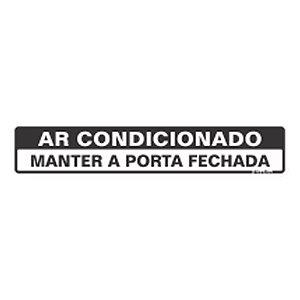 Placa De Sinalização Ar Condicionado Sinalize