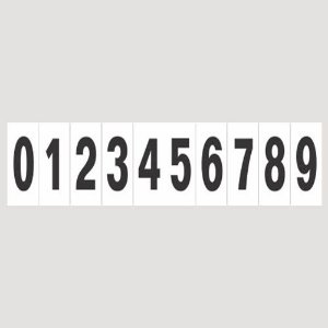 Placa De Sinalização Numeral 0 Á 9 Sinalize