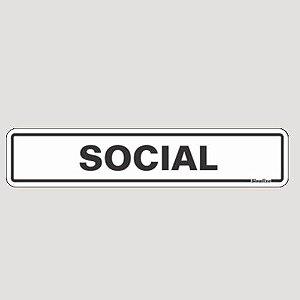 Placa De Sinalização Social Sinalize