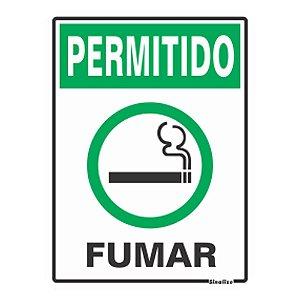 PLACA POLIESTIRENO 15 X 20 PERMITIDO FUMAR
