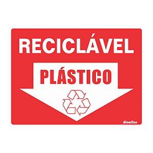 Placa De Poliestireno Auto-adesiva 20x15cm Reciclável Plástico - 220 Bk - Sinalize