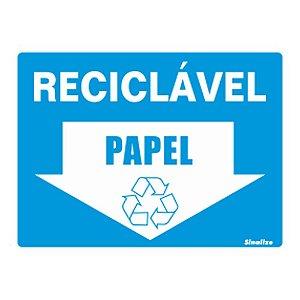 Placa De Poliestireno Auto-adesiva 15x20cm Reciclável Papel - 220 Bo - Sinalize