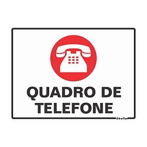 Placa De Poliestireno Auto-adesiva 15x20cm Quadro De Telefone - 220 Am - Sinalize