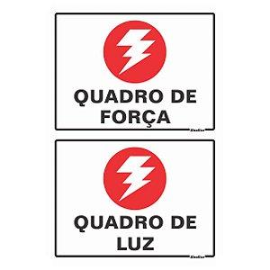 Placas De Poliestireno Auto-adesiva 20x10 Quadro De Força / Quadro De Luz - 250 Ax - Sinalize