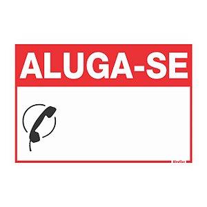 Placa De Poliestireno 20x30 aluga-se Sinalize