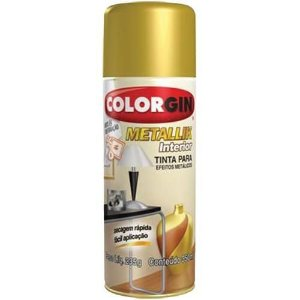 Tinta Spray Metallik Ouro 350ml - Colorgin