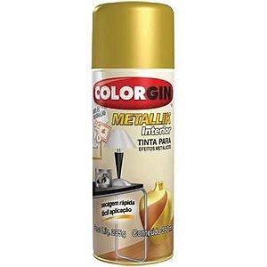 Tinta Spray Metallik Ouro 350ml - Colorgin