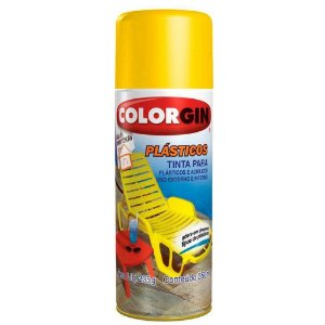Tinta Spray Plástico Colorgin 350 Ml Amarelo Sol - 1505