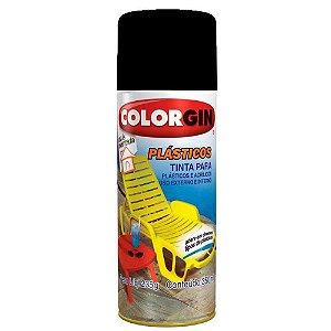 Tinta Colorgin P/ Cadeira De Plástico - Preto Fosco 1511