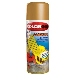 Tinta Spray Plástico Colorgin 350 Ml Ouro Metalico - 1521