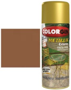 Tinta Spray Colorgin Metallik Exterior - Cobre Metálico 65