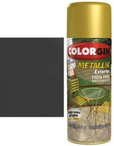 Tinta Spray Colorgin Metallik Exterior - Grafite Metalico 66