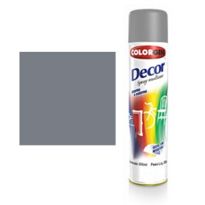 Tinta Spray Colorgin Decor Uso Geral 8721 Primer Cinza 350ml