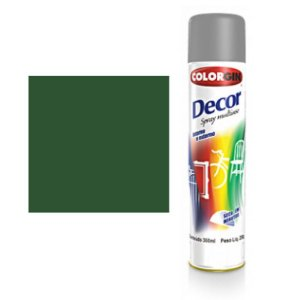 Tinta Spray Colorgin Decor Uso Geral 8751 Verde Folha 350ml