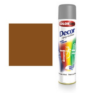 Tinta Spray Colorgin Decor Uso Geral 8821 Marrom Cafe 350ml