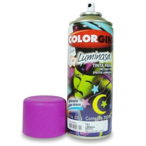 Tinta Spray Luminosa Brilhosa - Violeta 761 Colorgin