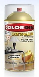 Tinta Spray Metallik58 Verniz 350ml - Colorgin