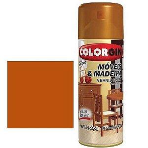 Tinta Spray Colorgin Para Moveis E Madeiras Imbuia Brilh 764
