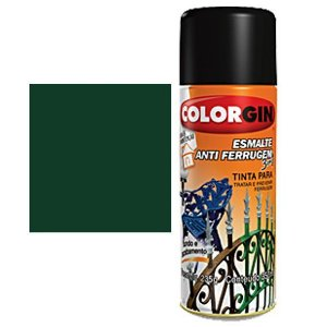 Tinta Spray Colorgin Esmalte Antiferrugem 3 X 1 Verde Coloni
