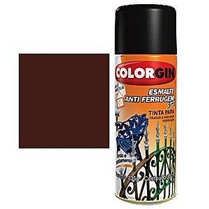 Tinta Spray Colorgin Esmalte Antiferrugem 3 X 1 Marrom