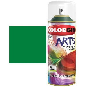 TINTA COLORGIN SPRAY ARTS - VERDE PALMEIRA 670