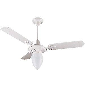Ventilador Argelux Branco/branco 1luz Pera 3p 1031 - 127 V