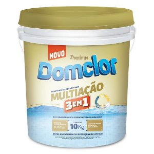 Cloro Multiação 3 Em 1 Domclor 10kg