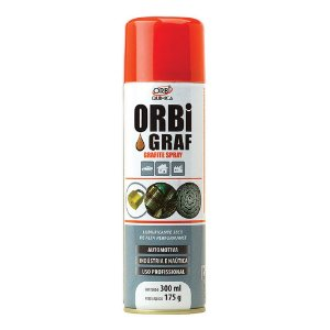 Grafite Spray OrbiGraf 300ml Lubrificante seco