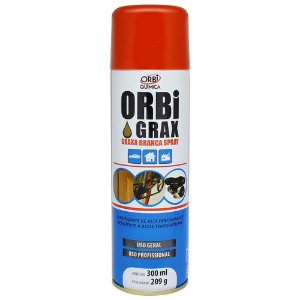 Graxa Spray Branca ObriGrax 300 Ml Orbi