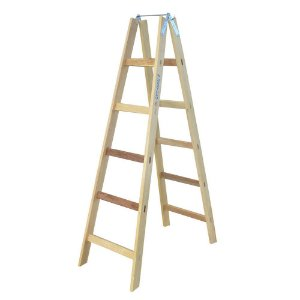 Escada De Madeira Tipo Pintor 6 Degraus1.70m