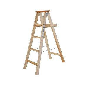 Escada De Madeira Tipo Pintor 9 Degraus 2.60m