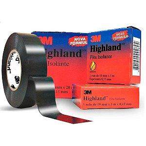 Fita Isolante Preta 20 Metros Highland 19 Mm 3m Hb004171797