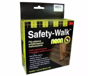 Fita Antiderrapante Safety Walk Neon 50mmx5m - 3m