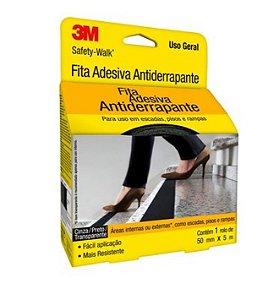 Fita Antiderrapante Safety Walk Preta 50mmx5m - 3m