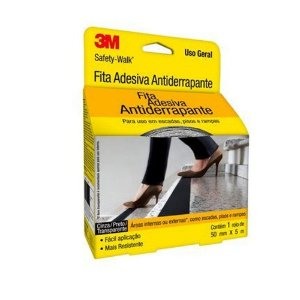 Fita Antiderrapante Safety Walk Transparente 50mm X 5m - 3m