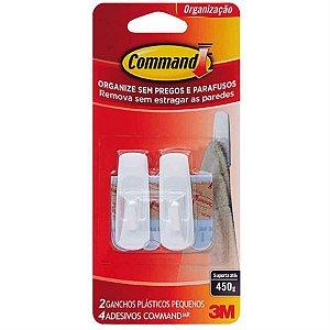 Gancho Adesivo Plástico 3m Command Tamanho Pequeno