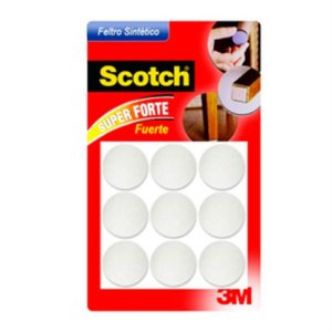 Feltro Sintético Redondo Branco G 3m Scotch