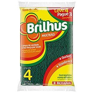 Esponja Multiuso Brilhus Leve 4 Pague 3