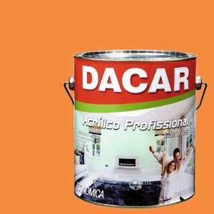 Tinta Acrílica Dacar Fosco Profissional 3,6 L Tangerina