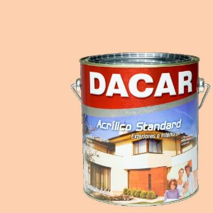 Tinta Acrilico Latex Standar Dacar 3,6 L Pêssego