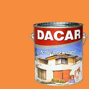 Tinta Acrilico Latex Standar Dacar 3,6 L Tangerina