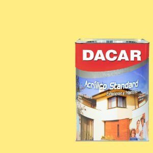Tinta Acrílica Dacar Latex Standart 18 L Amarelo Canario