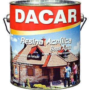 Resina Acrilica Base Agua 3,6l Dacar Incolor