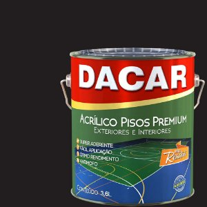Tinta Piso Premium Dacar Preto 3,6 Lts