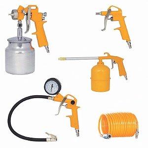 Kit Pintura P/ Compressor Pistola,pulverizador,inflador,bico