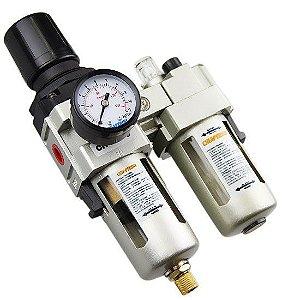 Filtro Regulador De Ar Lubrificador 1/4  Cl1 Pressure