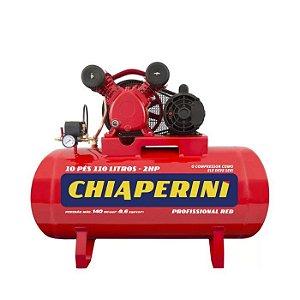 Compressor De Ar 10 Pes 110 Litros 140 Libras Monofasico Chiaperini