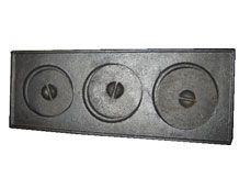 Chapa De Fogão Mineira 3 Furos C/ Tampa Ferro Fundido