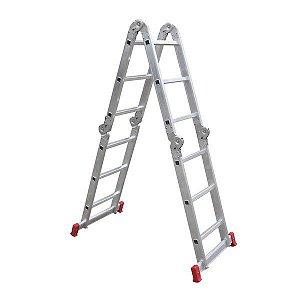 Escada Multifuncional 5131 4 X 3 Em Alumínio 12 Degraus-